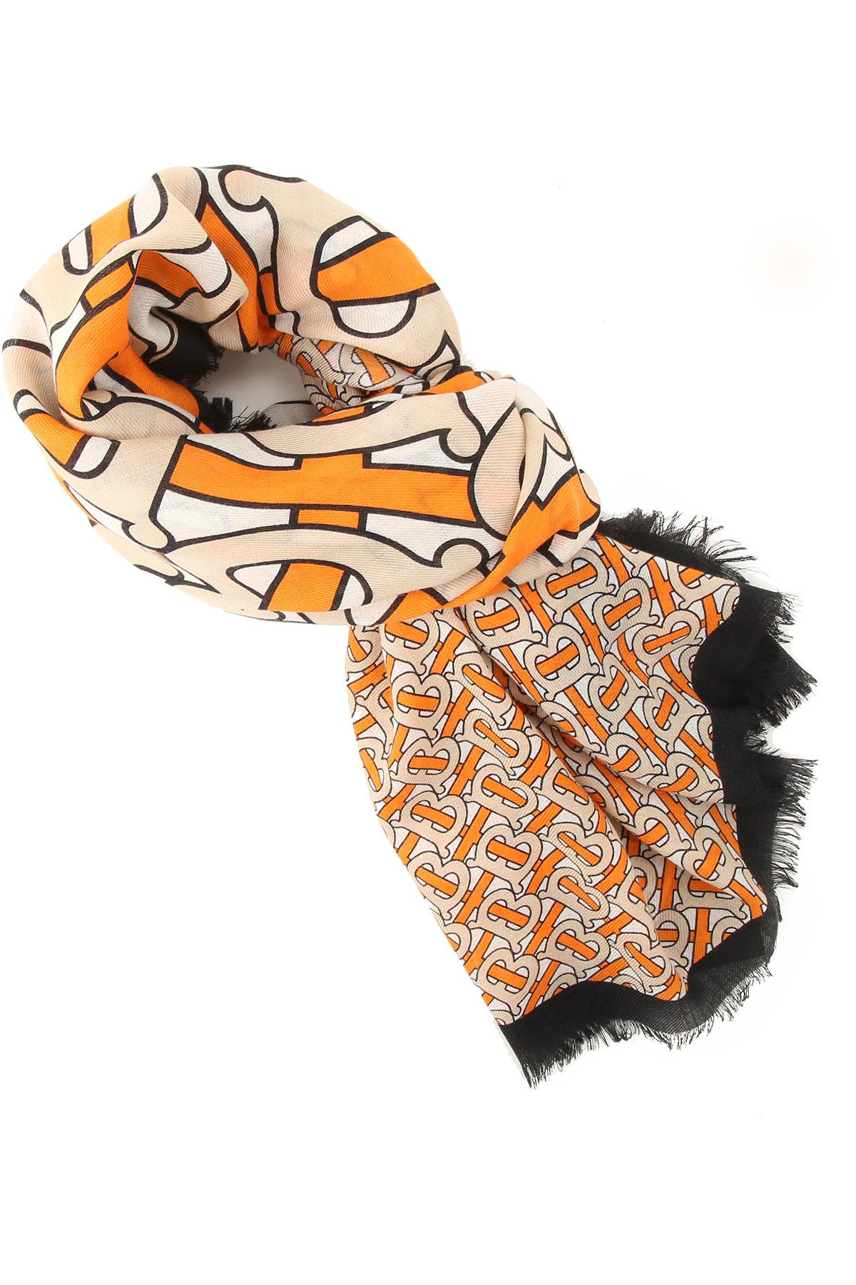 Burberry Wallet for Women, Bright Orange, Cashmere, 2019