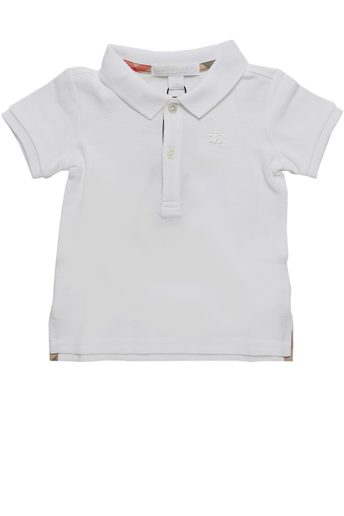 Image of Burberry Baby Polo Shirt for Boys, White, Cotton, 2017, 12M 18M 2Y 2Y 3Y