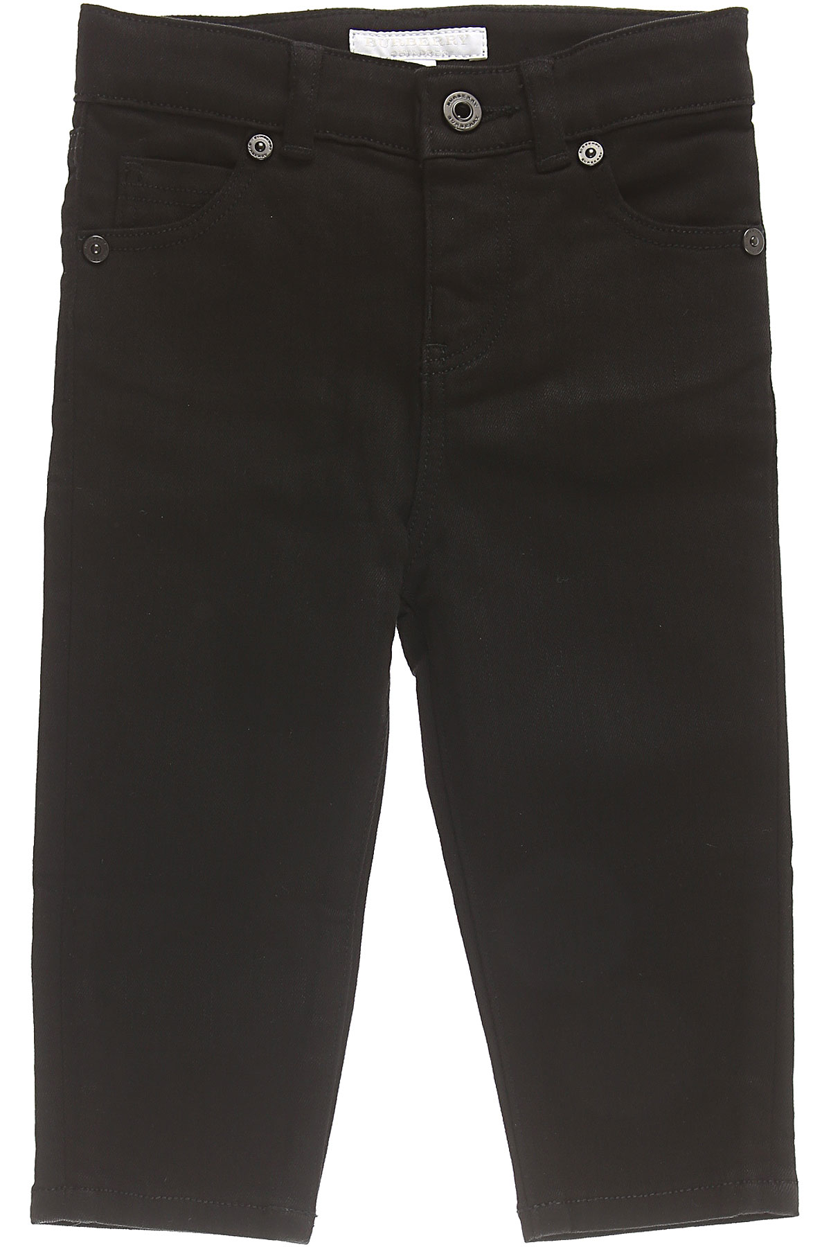 Image of Burberry Baby Jeans for Boys, Black, Cotton, 2017, 12M 18M 2Y 3Y