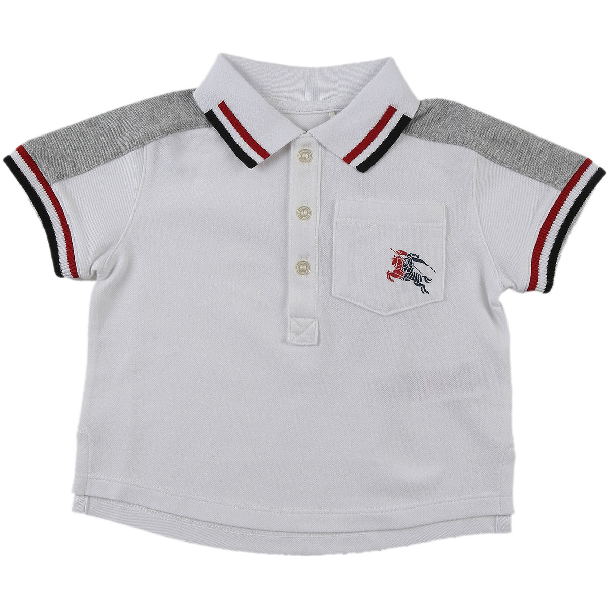 Image of Burberry Baby Polo Shirt for Boys, White, Cotton, 2017, 18M 2Y 3Y 6M