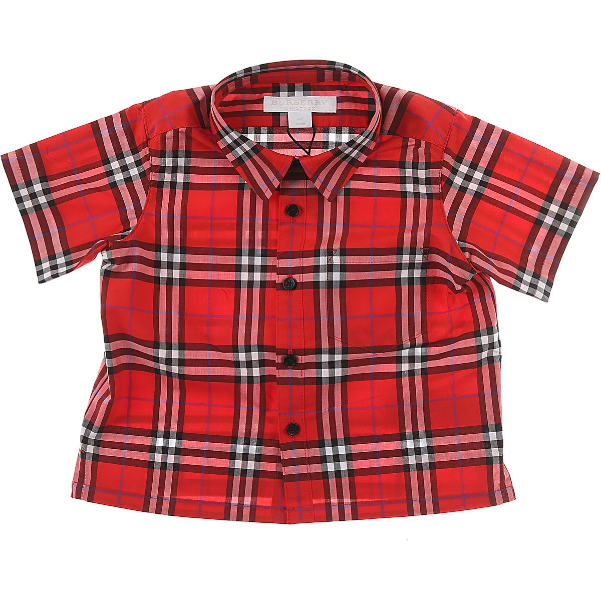 Image of Burberry Baby Shirts for Boys, Red, Cotton, 2017, 18M 2Y 3Y 6M