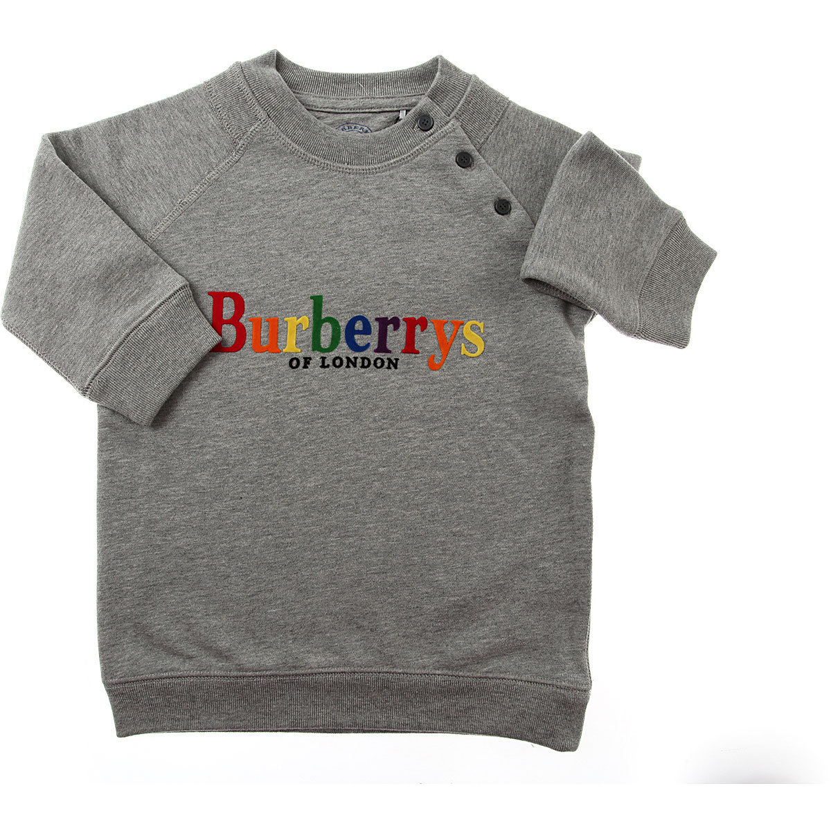 Burberry Baby Dress for Girls On Sale in Outlet, Grey, Cotton, 2019, 12M 2Y 6M
