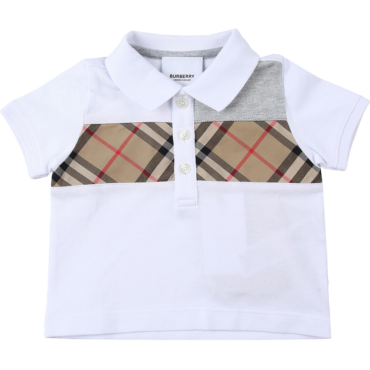 Burberry Baby Polo Shirt for Boys On Sale, White, Cotton, 2019, 12 M 18 M 6M 9 M