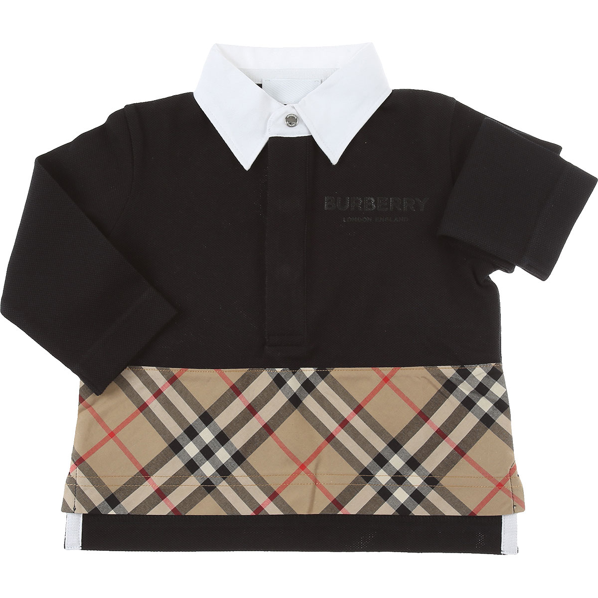 Burberry Baby Polo Shirt for Boys On Sale, Black, Cotton, 2019, 12 M 18M 2Y 6M