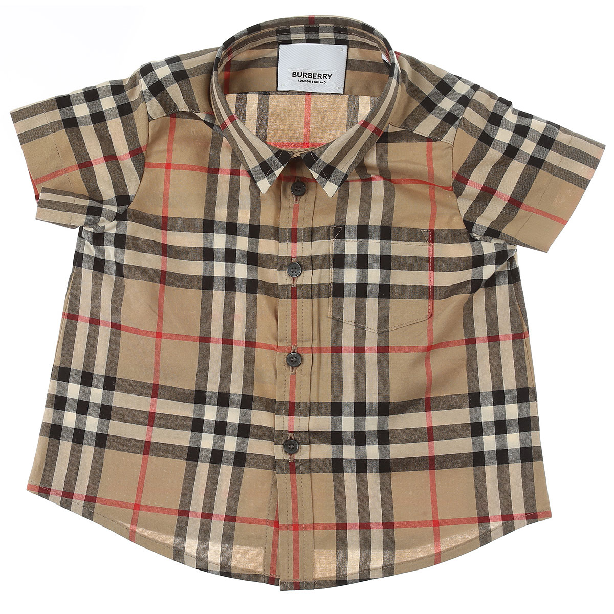 Burberry Baby Shirts for Boys On Sale, Beige, Cotton, 2019, 18M 6M