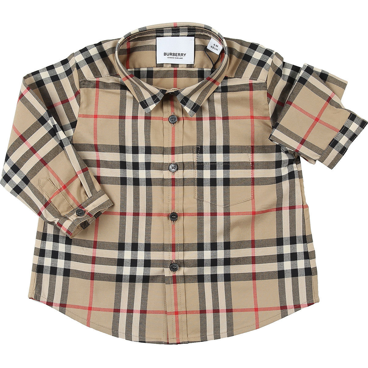 Burberry Baby Shirts for Boys On Sale, Dark Beige, Cotton, 2019, 12 M 2Y 6M