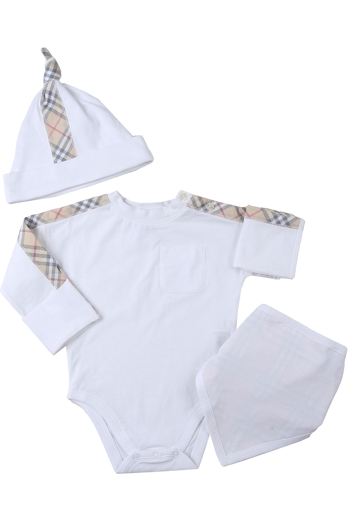 Burberry Baby Sets for Boys, White, Cotton, 2019, 1M 3M 6M