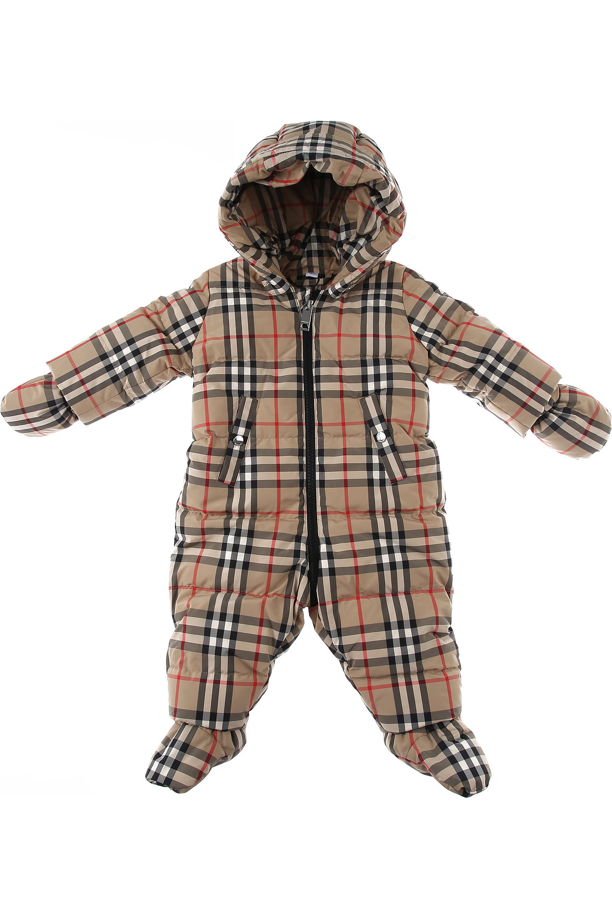 Burberry Baby Bodysuits & Onesies for Boys On Sale, Beige, polyester, 2019, 3M 6M