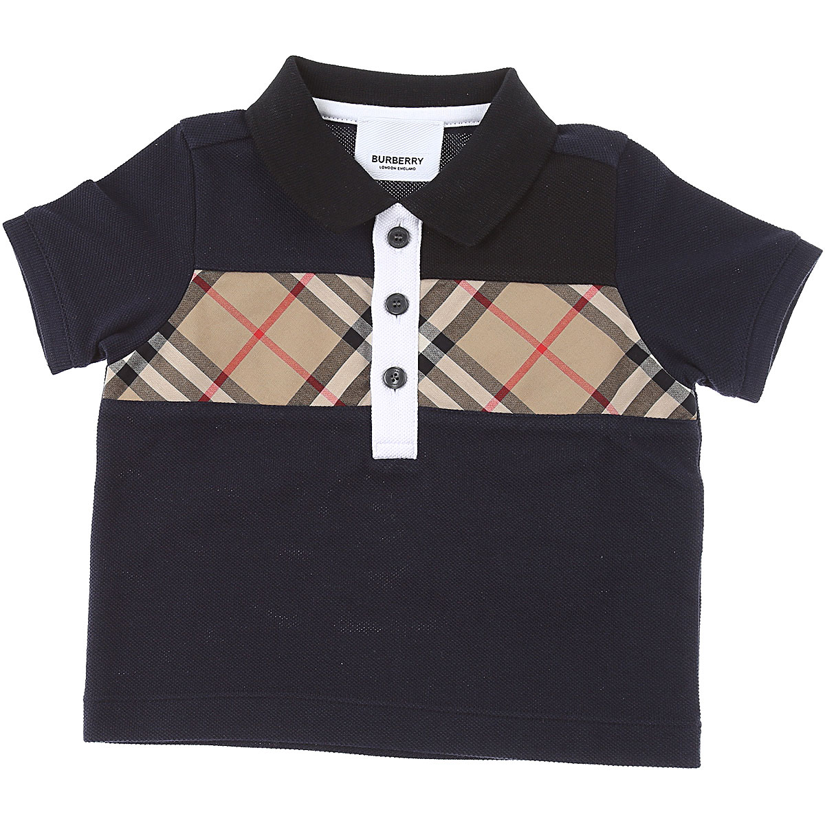 Burberry Baby Polo Shirt for Boys, Black, Cotton, 2019, 12 M 18M 2Y
