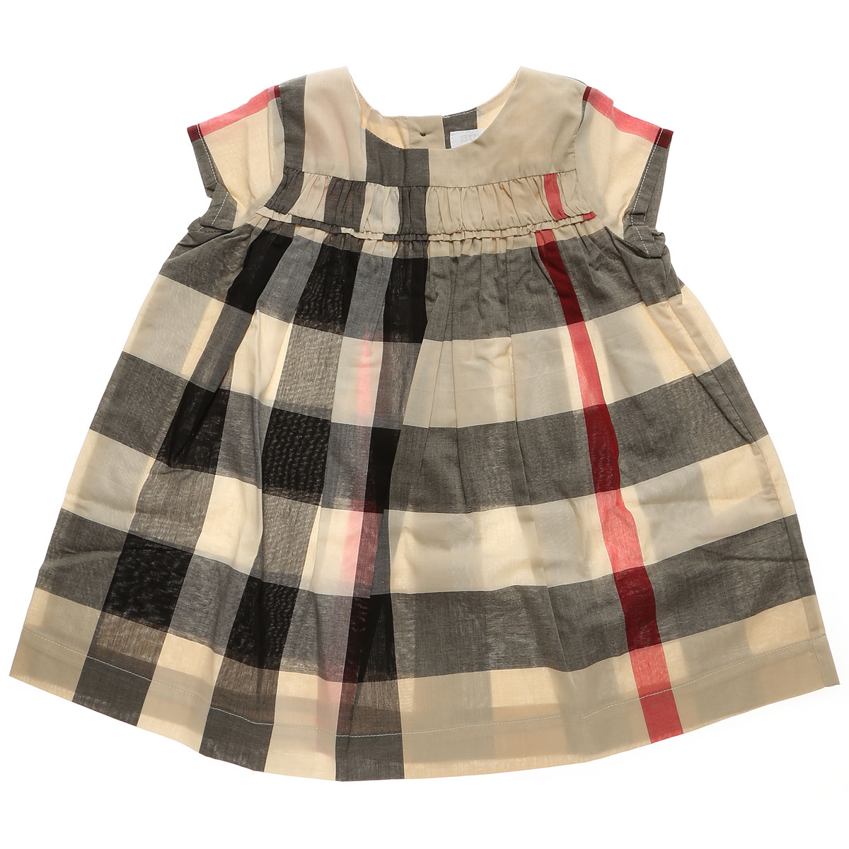 Image of Burberry Baby Dress for Girls, Beige, Cotton, 2017, 18M 6M 9M