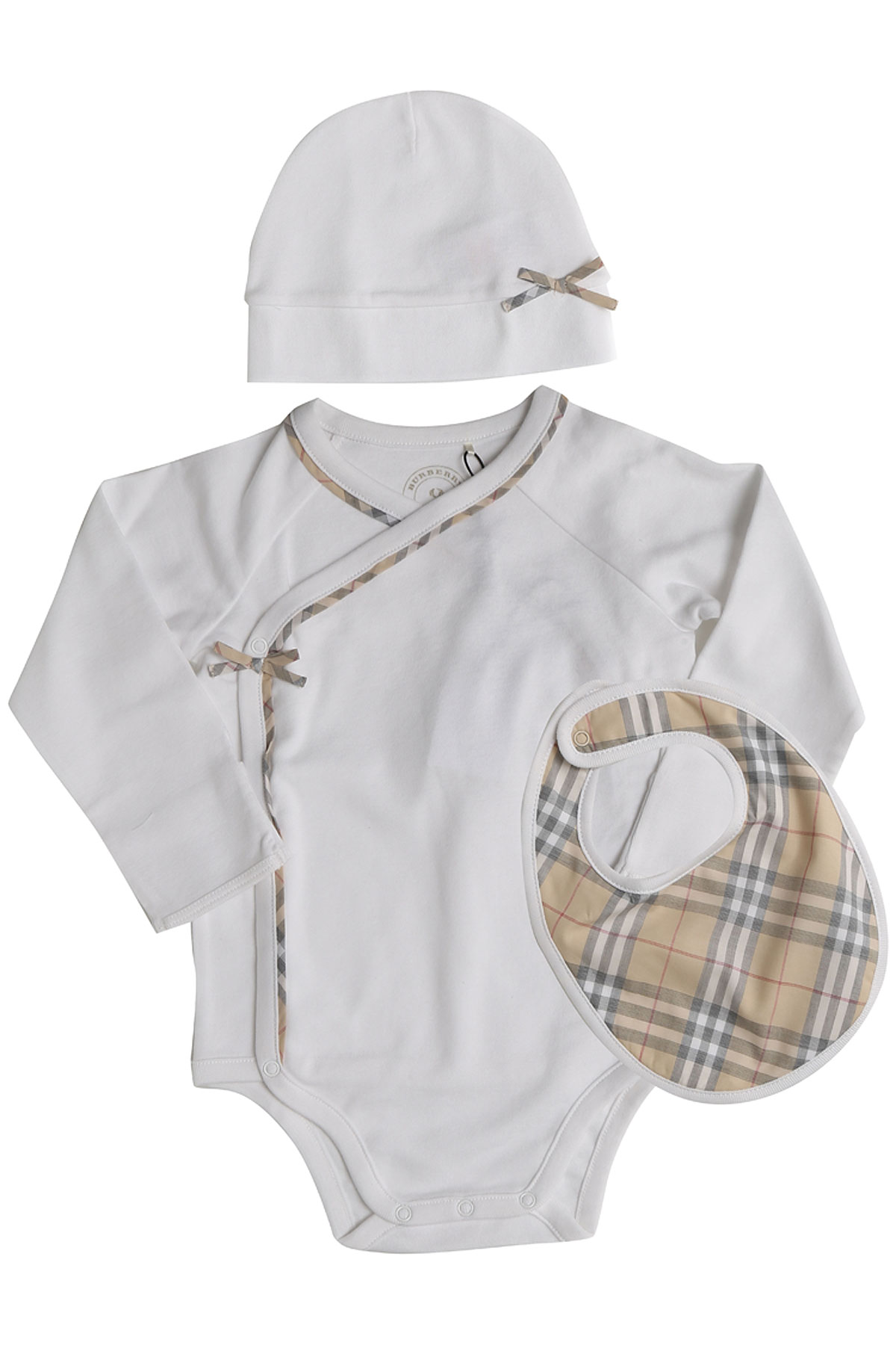 Image of Burberry Baby Sets for Girls, White, Cotton, 2017, 3M 6M