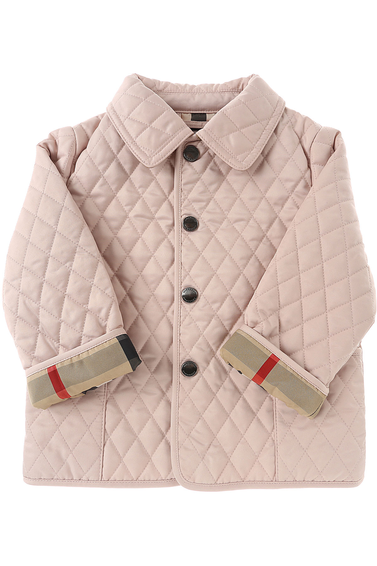 Image of Burberry Baby Jacket for Girls, Pink, polyester, 2017, 12M 18M 2Y 6M