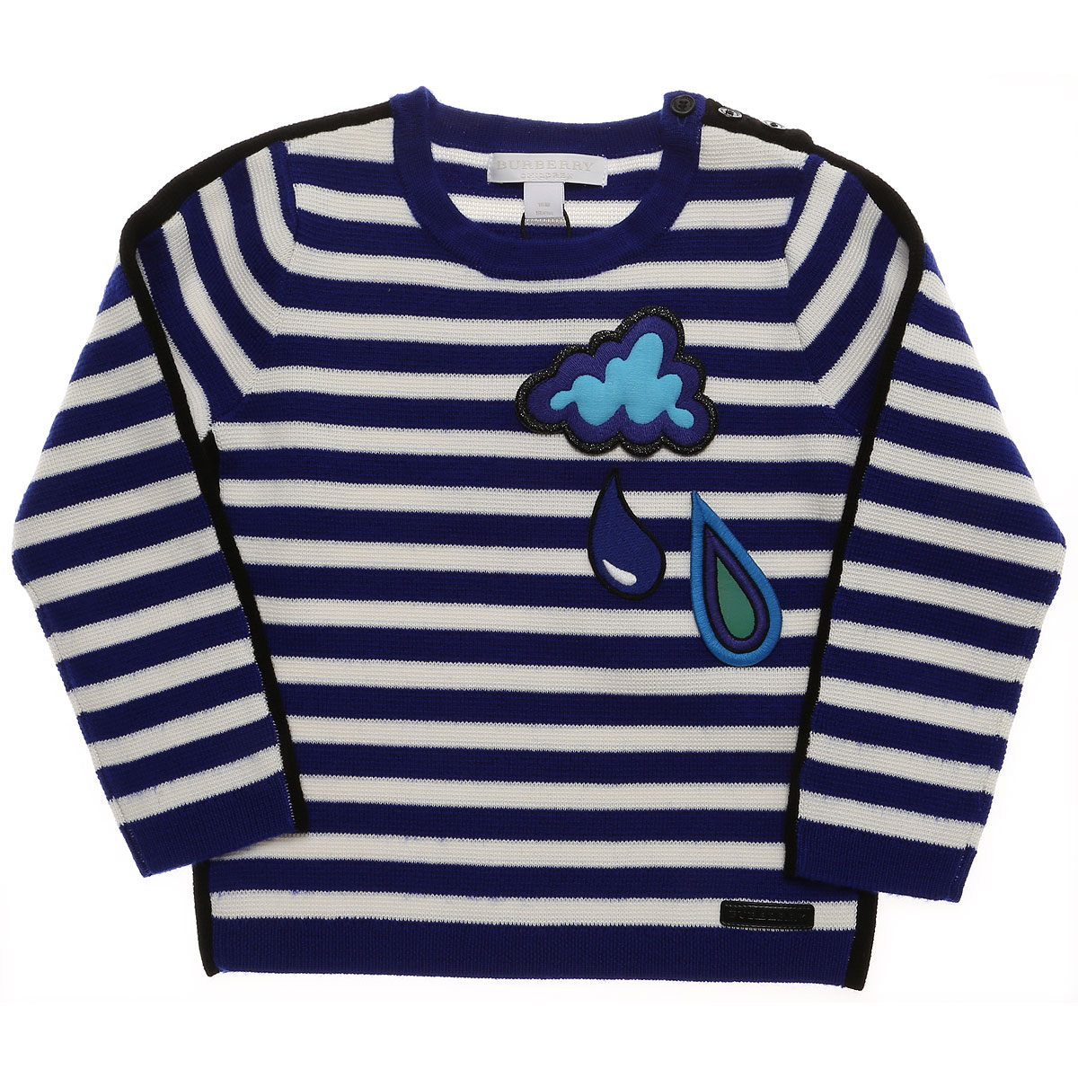 Burberry Baby Sweaters for Girls On Sale in Outlet, Brillant Blue, Cotton, 2019, 12M 18M