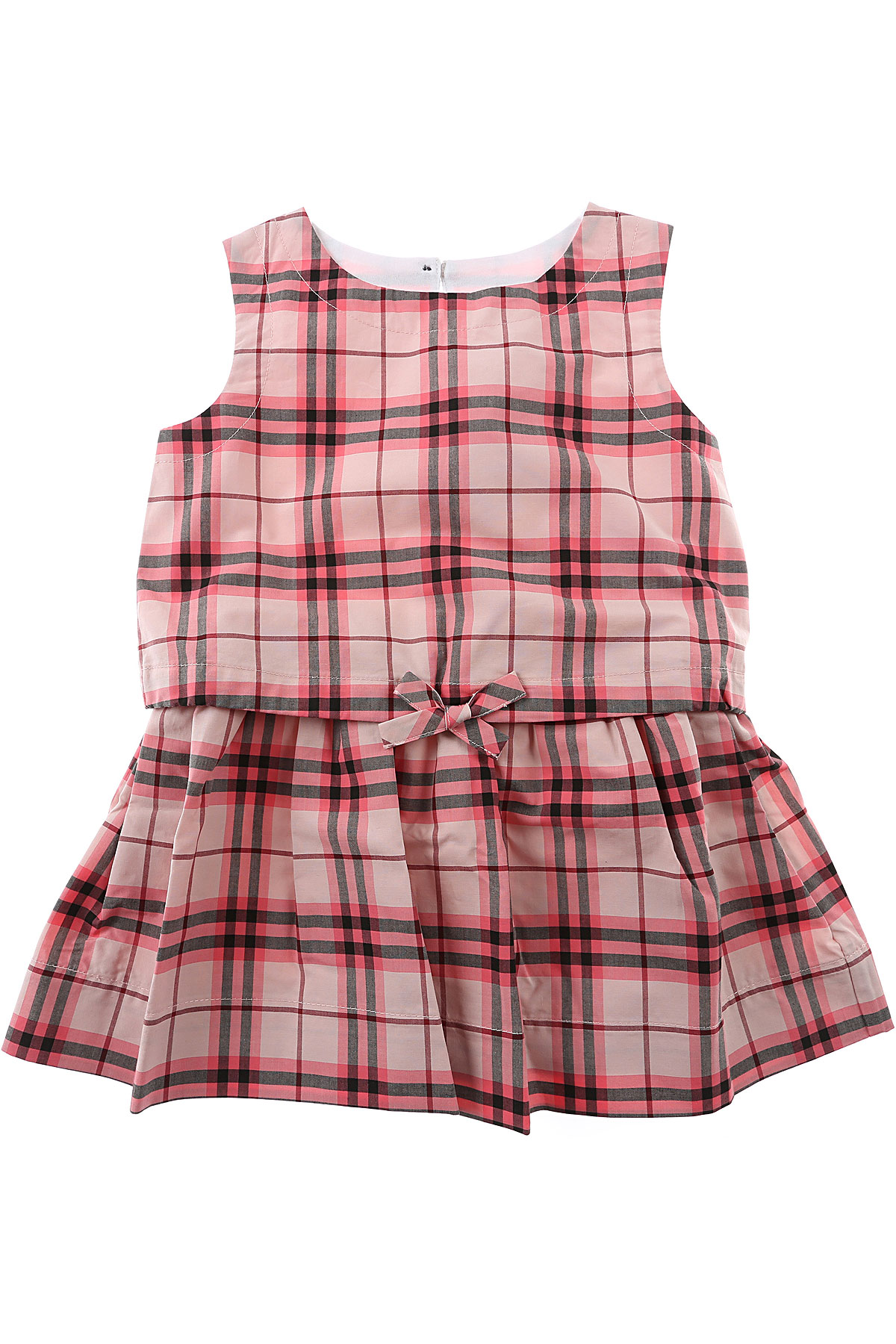 Image of Burberry Baby Dress for Girls On Sale, Bright Rose, Cotton, 2017, 18M 2Y 6M 9M