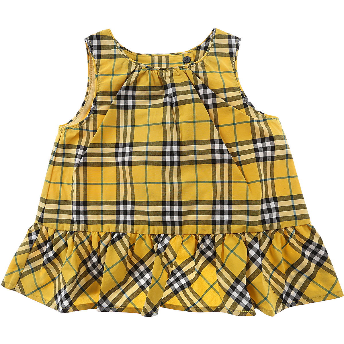 Image of Burberry Tops On Sale, Bright Yellow, Cotton, 2017, 12M 6M 9M