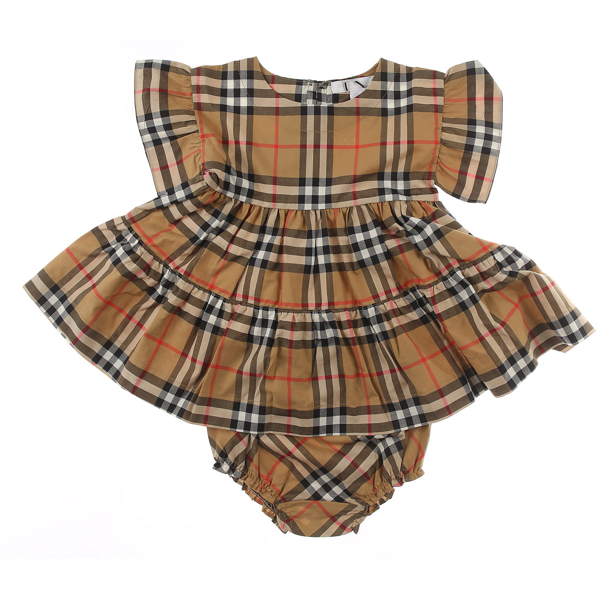 Image of Burberry Baby Sets for Girls, Brown, Cotton, 2017, 12M 18M 3M 6M