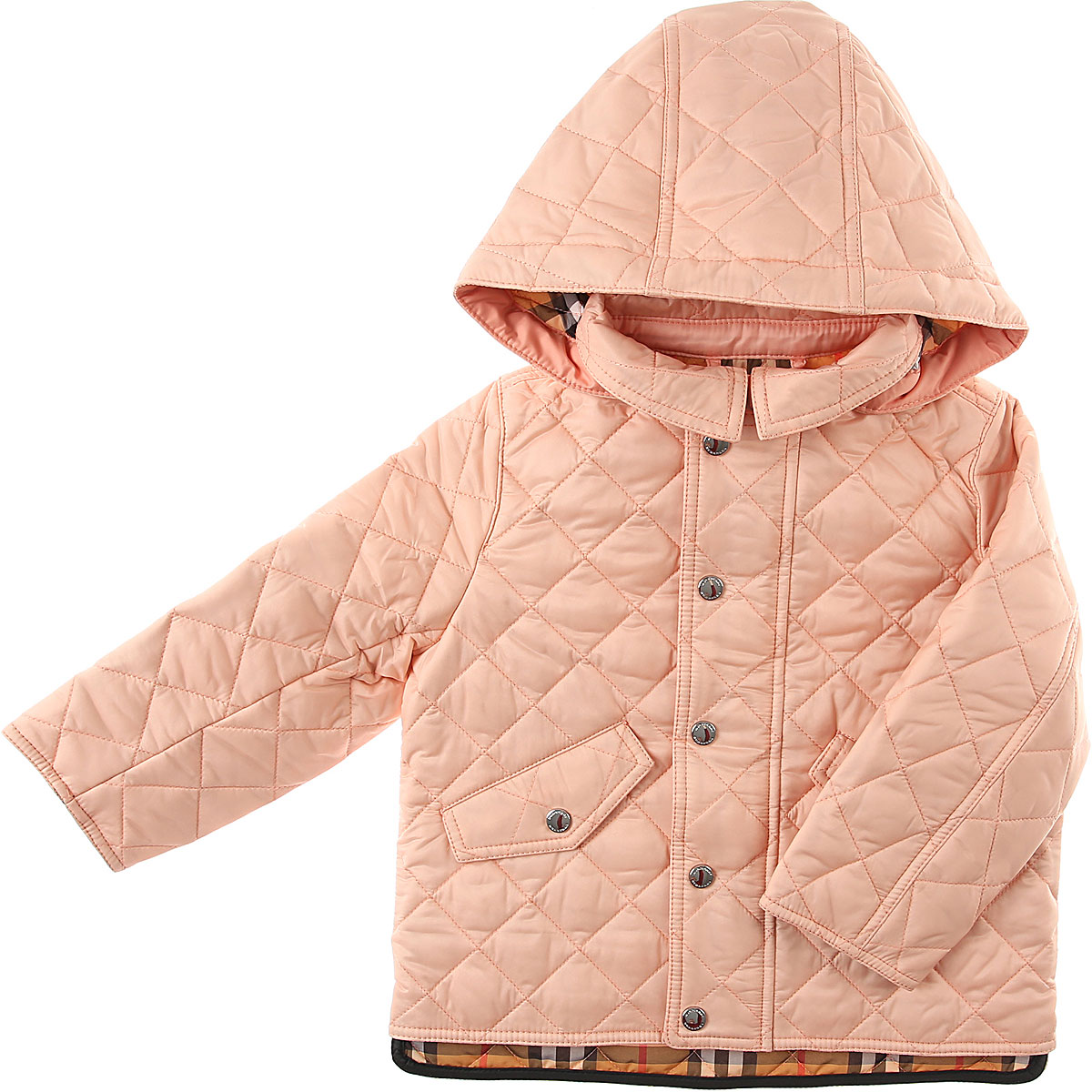 Burberry Baby Jacket for Girls On Sale, Pink, polyamide, 2019, 18M 6M