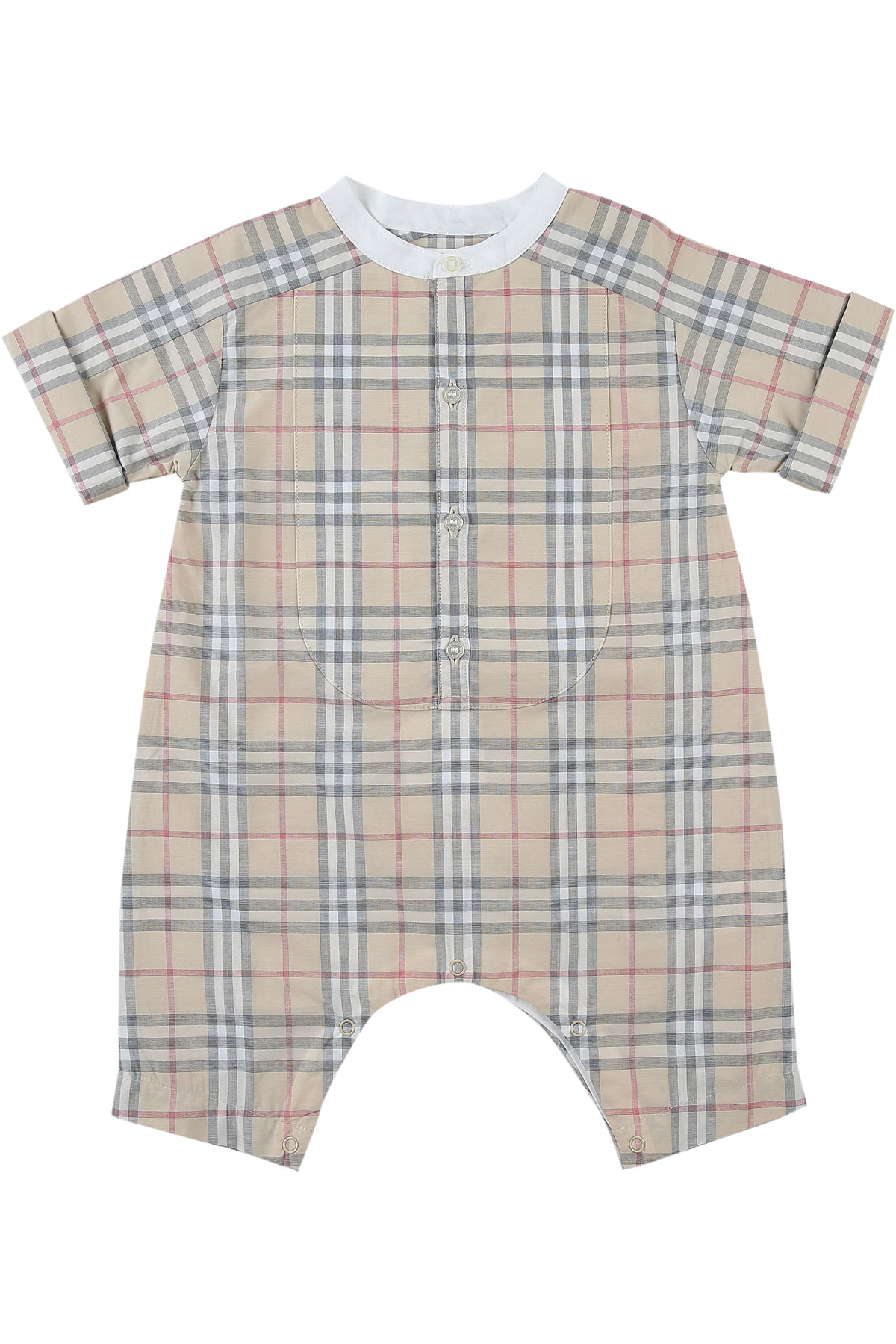 Burberry Baby Bodysuits & Onesies for Girls On Sale in Outlet, Pale Stone, Cotton, 2019, 3M 6M