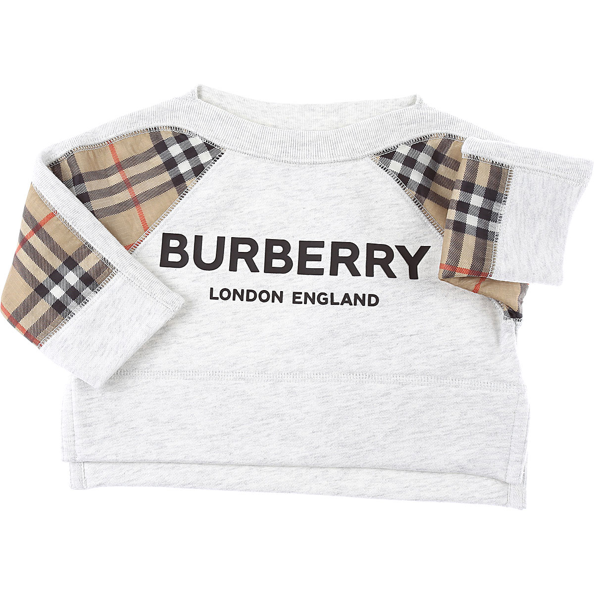 Burberry Baby Sweatshirts & Hoodies for Girls On Sale in Outlet, White, Cotton, 2019, 12M 18M 6M
