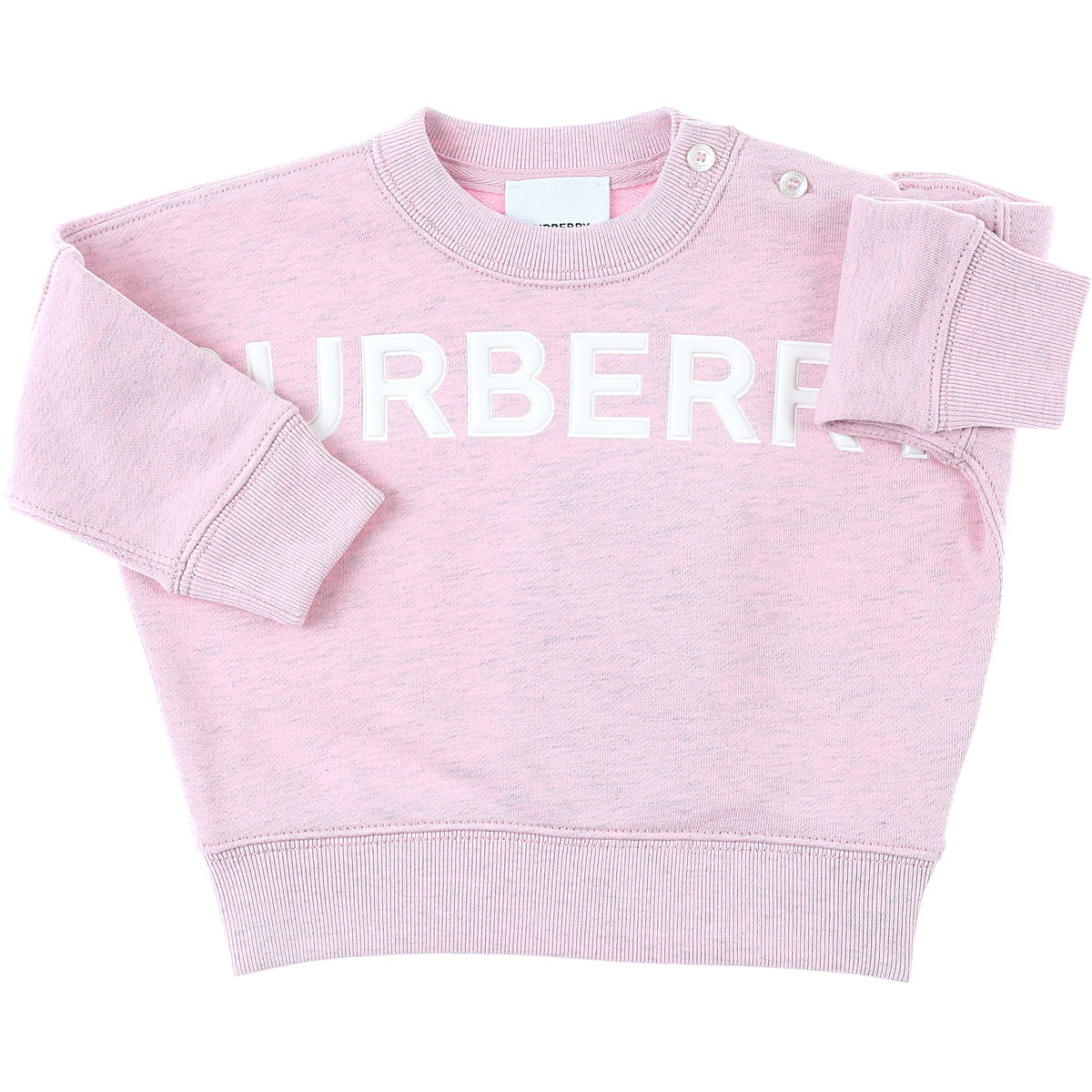 Burberry Baby Sweatshirts & Hoodies for Girls On Sale in Outlet, Pink, Cotton, 2019, 12M 6M