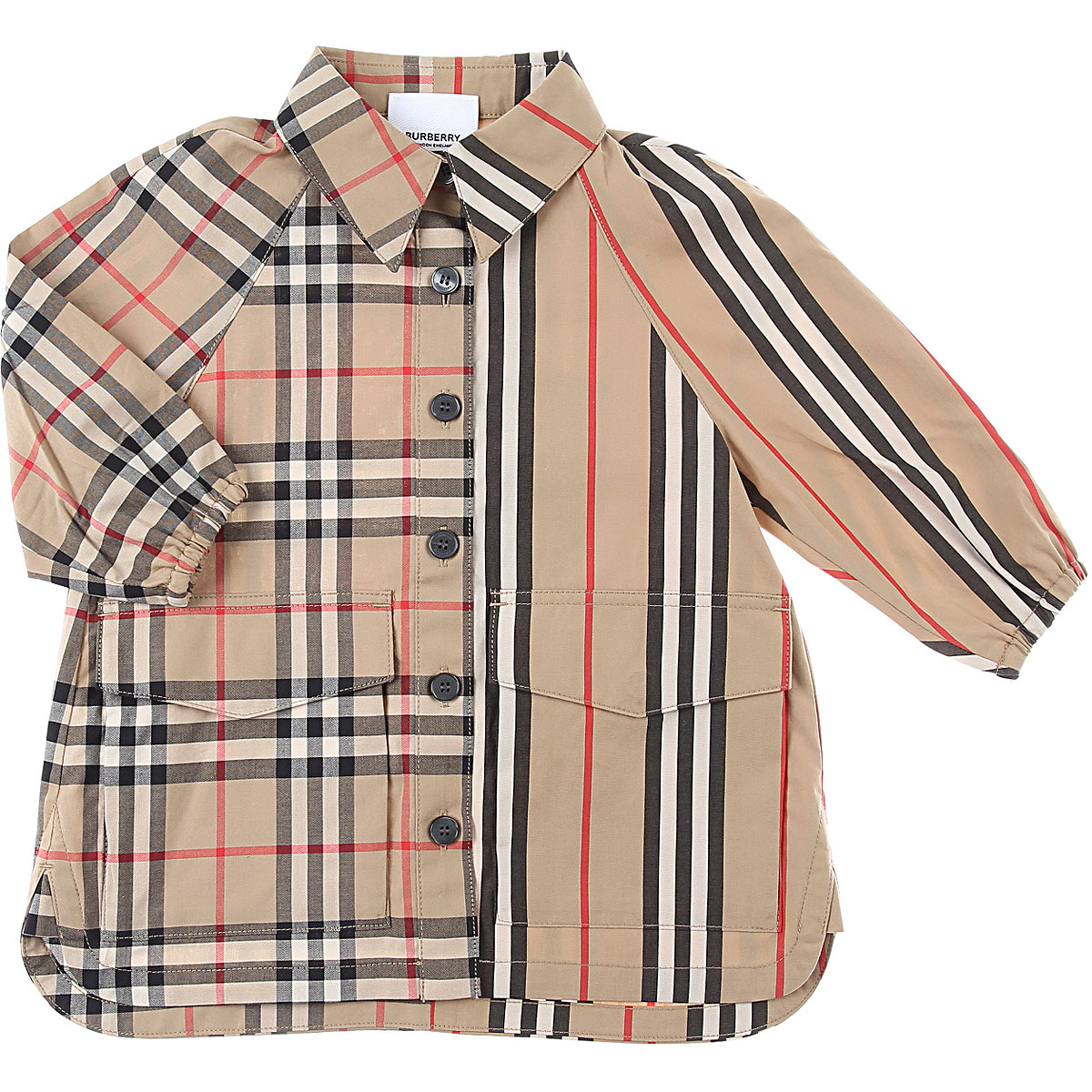 Burberry Baby Dress for Girls On Sale, Camel, Cotton, 2019, 12M 18M 2Y 6M