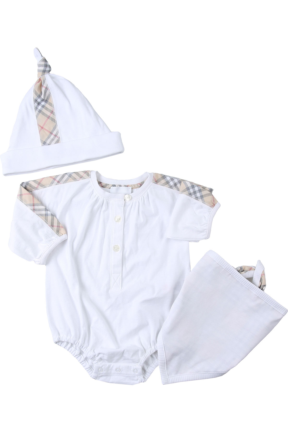 Burberry Baby Sets for Girls, White, Cotton, 2019, 1M 3M 6M