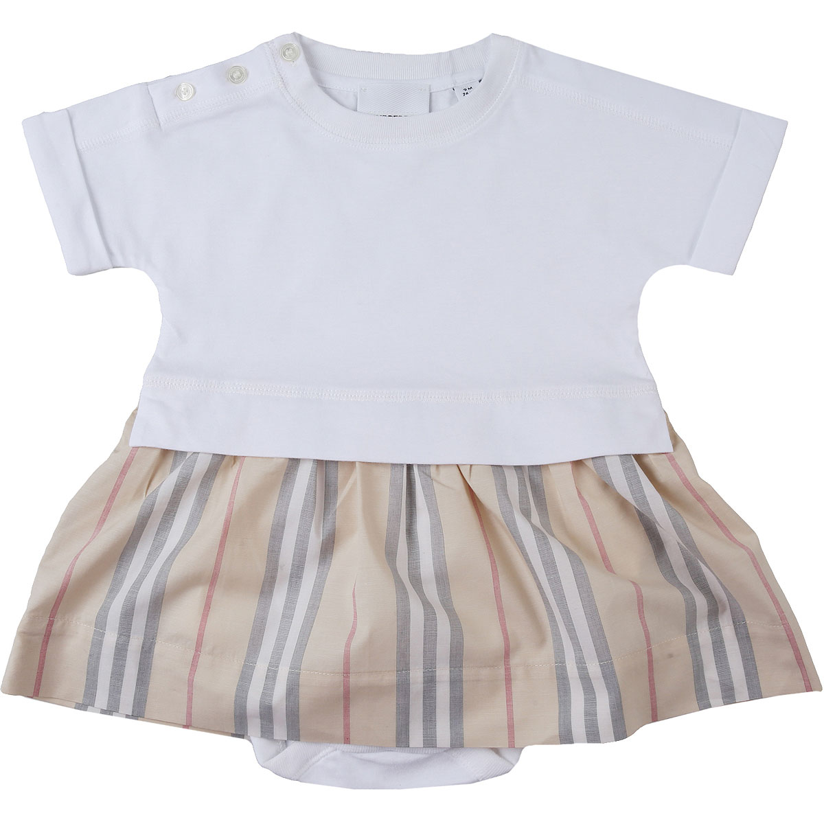 Burberry Baby Bodysuits & Onesies for Girls On Sale, White, Cotton, 2019, 18M 6M