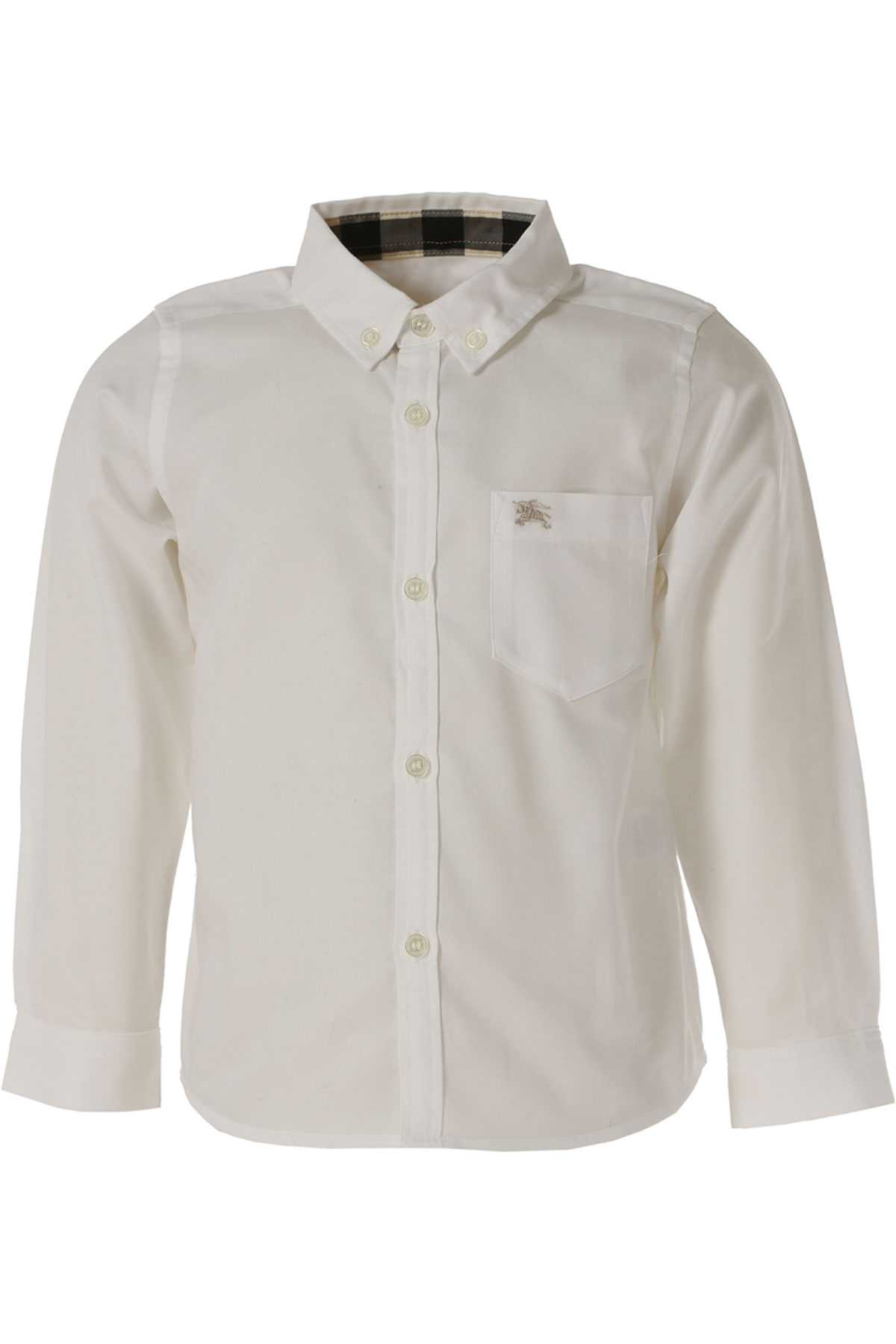 Image of Burberry Kids Shirts for Boys On Sale in Outlet, White, Cotton, 2017, 4Y 6Y
