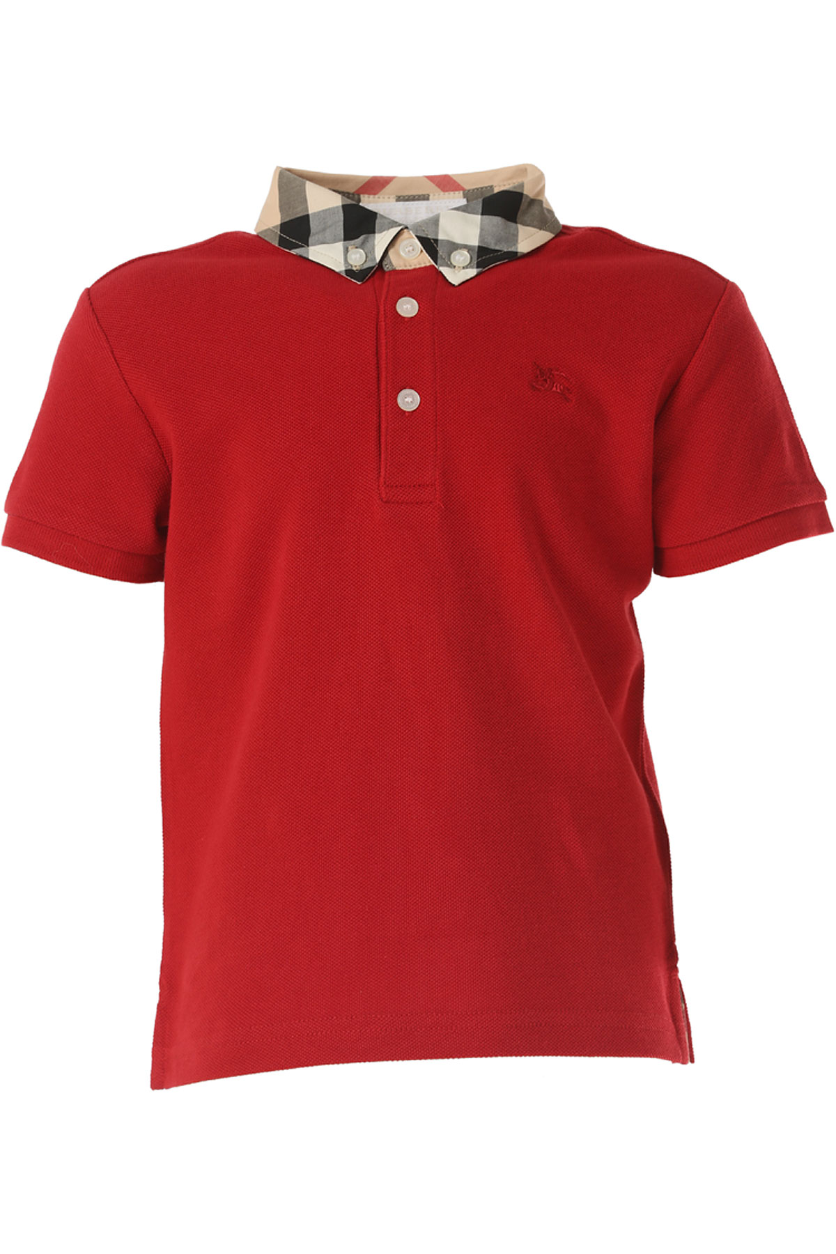 Image of Burberry Kids Polo Shirt for Boys, Red, Cotton, 2017, 10Y 4Y 6Y 8Y