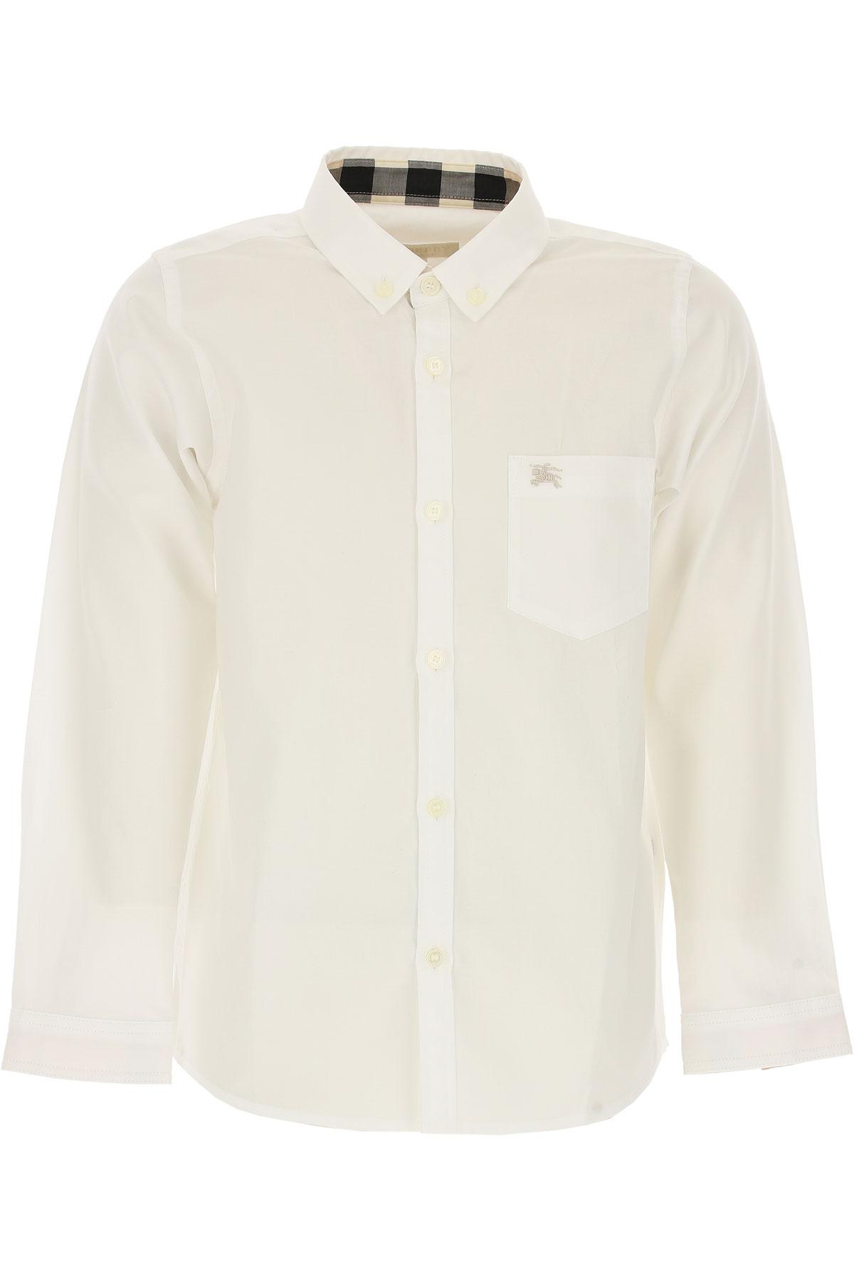 Image of Burberry Kids Shirts for Boys, White, Cotton, 2017, 10Y 14Y 4Y 6Y 8Y