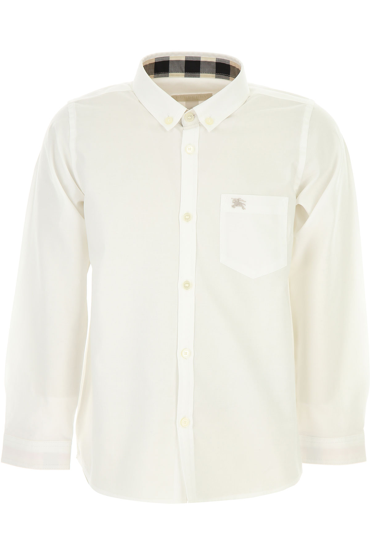 Image of Burberry Kids Shirts for Boys, White, Cotton, 2017, 10Y 4Y 6Y 8Y