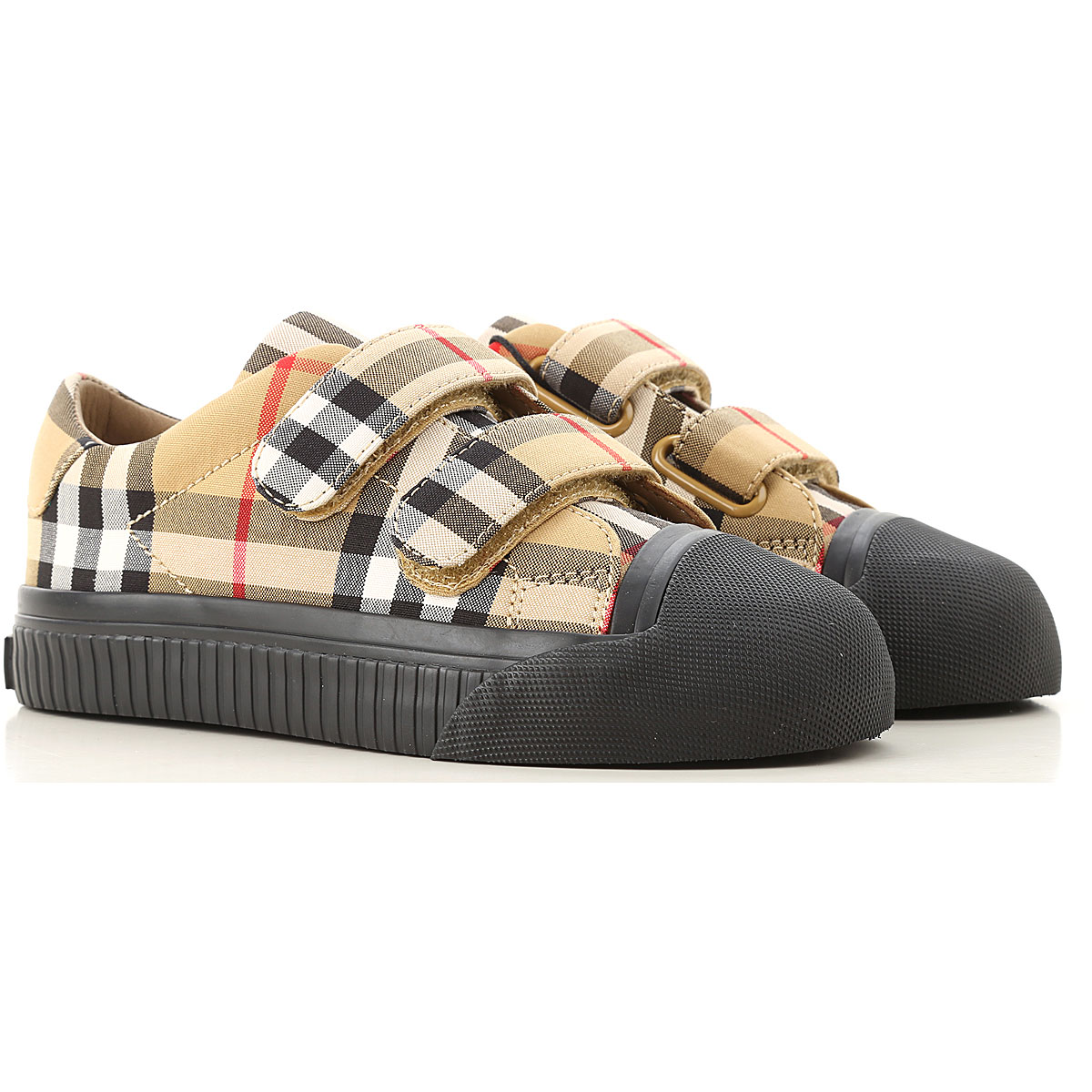Image of Burberry Kids Shoes for Boys, Antique Yellow, Leather, 2017, 27 28 29 30 31 32 33 34 35