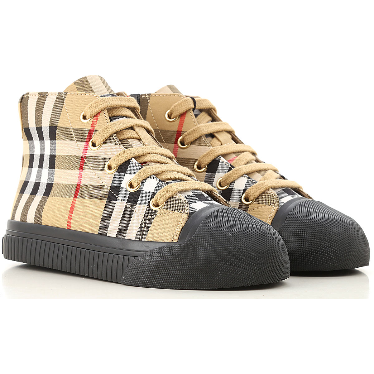Image of Burberry Kids Shoes for Boys, Antique Yellow, Leather, 2017, 27 28 29 30 32 33 34