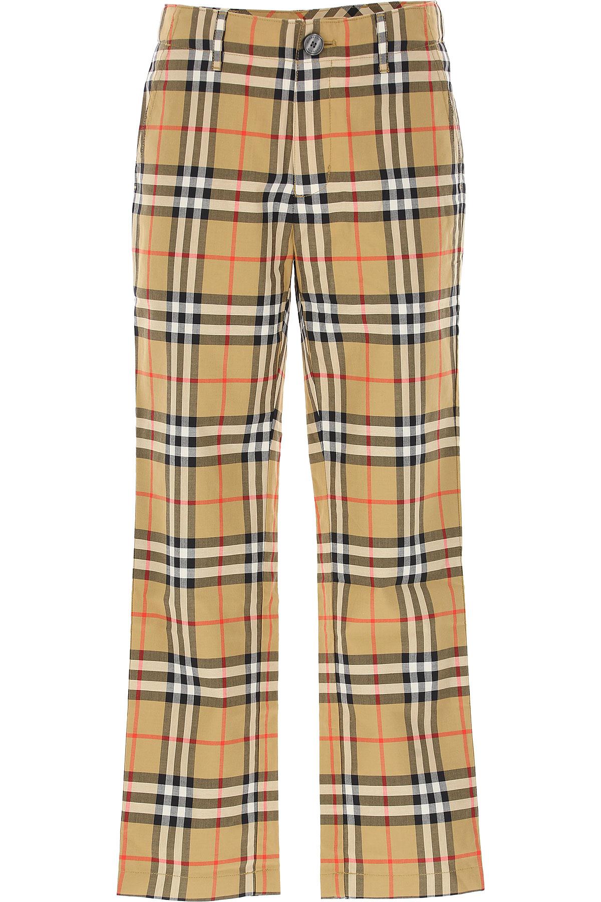 Image of Burberry Kids Pants for Boys, Brown, Cotton, 2017, 10Y 14Y 4Y 6Y 8Y