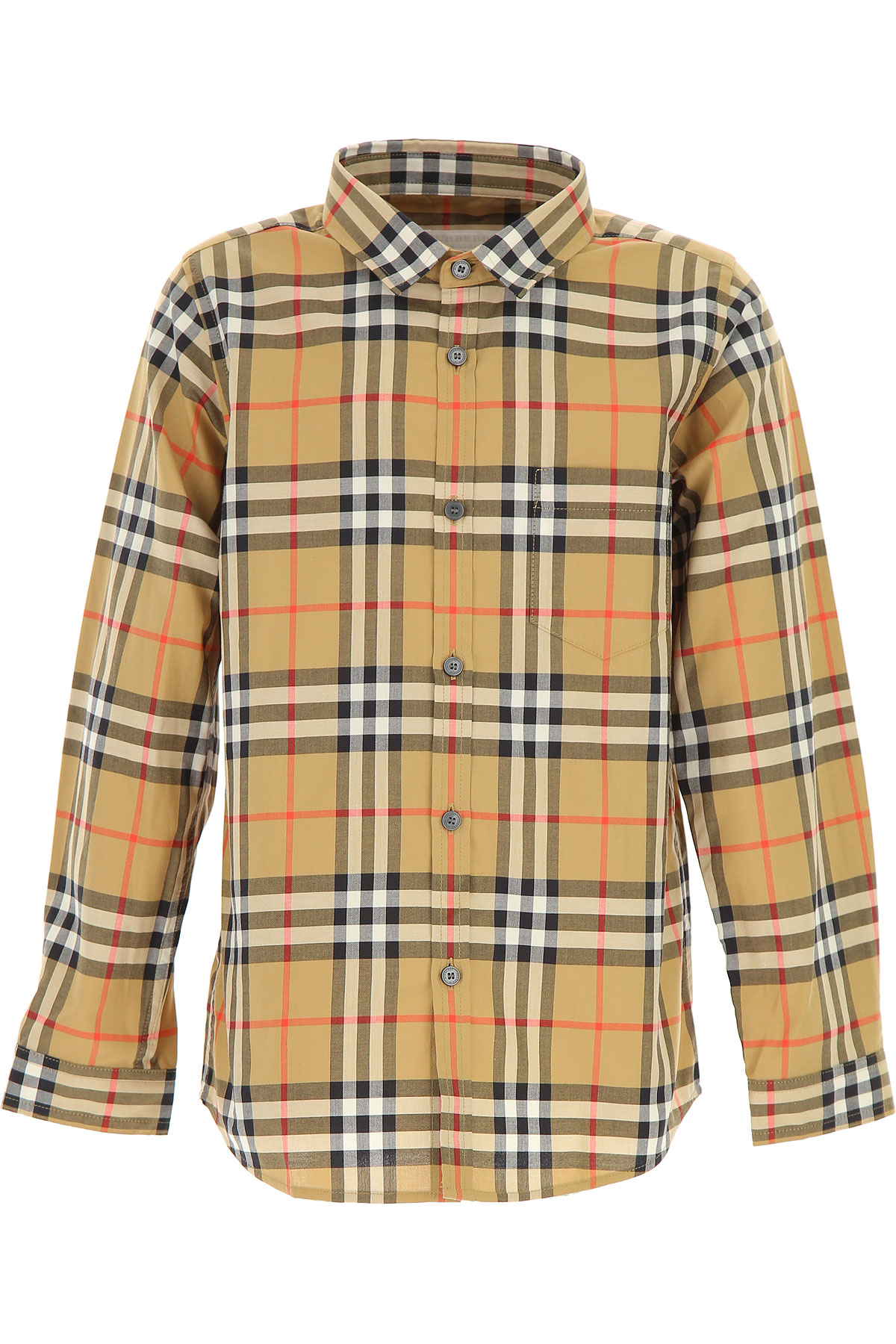 Image of Burberry Kids Shirts for Boys, Antique Yellow, Cotton, 2017, 10Y 14Y 8Y