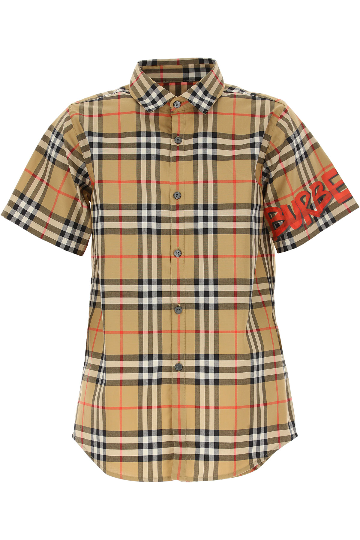 Image of Burberry Kids Shirts for Boys, Brown, Cotton, 2017, 10Y 14Y 8Y