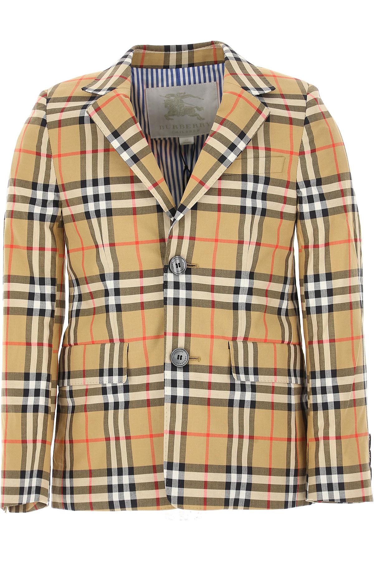Image of Burberry Kids Blazer for Boys, Brown, Cotton, 2017, 10Y 14Y 4Y 6Y 8Y