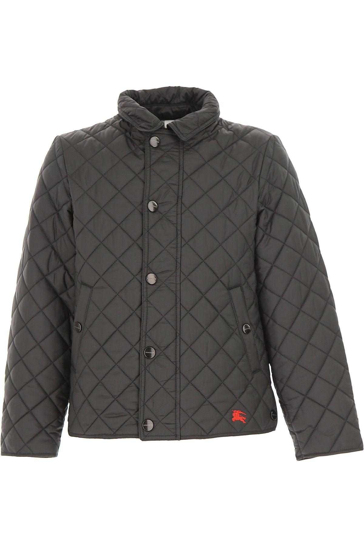 Image of Burberry Kids Jacket for Boys, Black, Cotton, 2017, 10Y 14Y 4Y 6Y 8Y