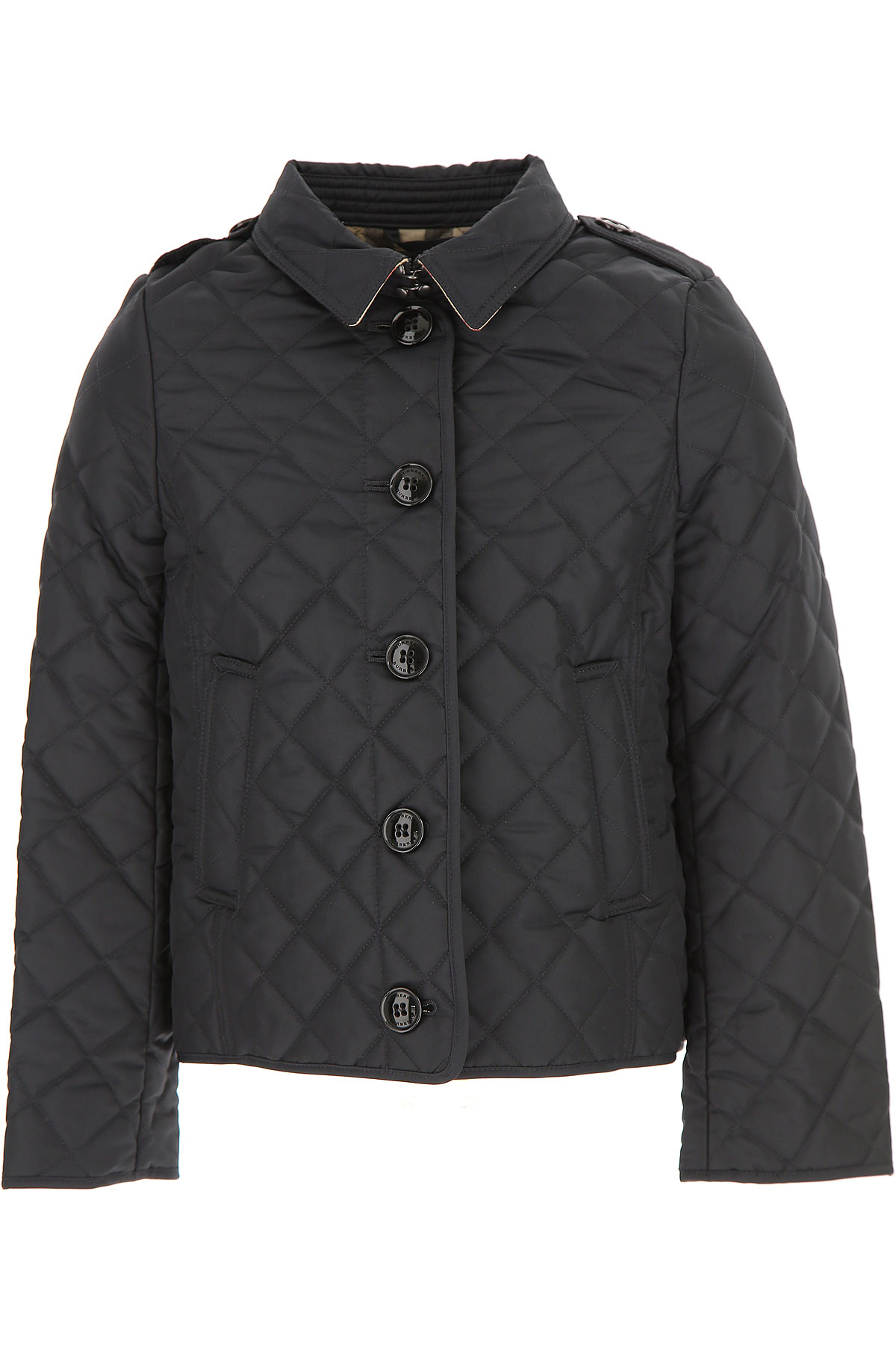 Image of Burberry Kids Jacket for Girls, Blue, polyester, 2017, 10Y 6Y 8Y