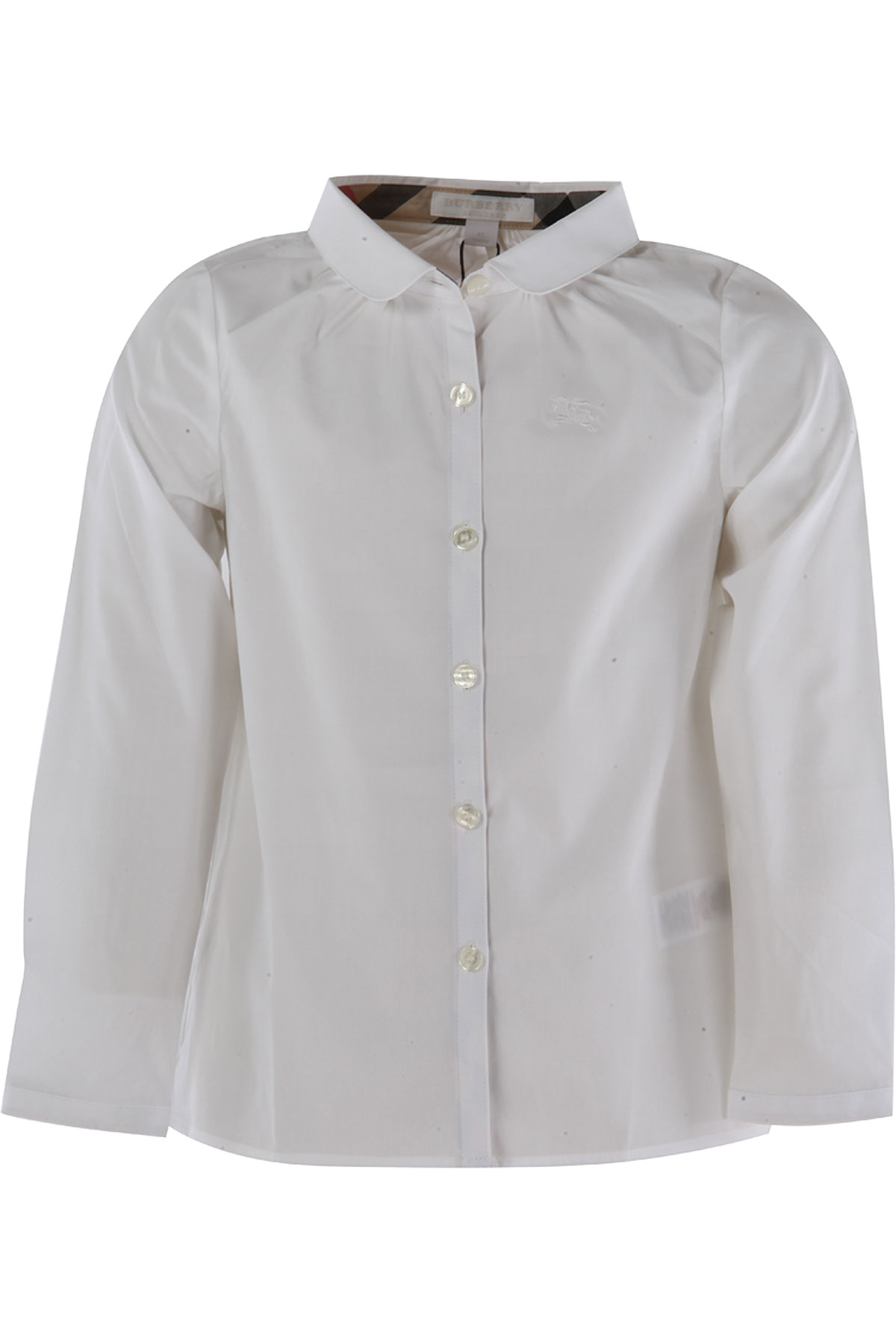 Image of Burberry Kids Shirts for Girls, White, Cotton, 2017, 10Y 14Y 4Y 6Y 8Y