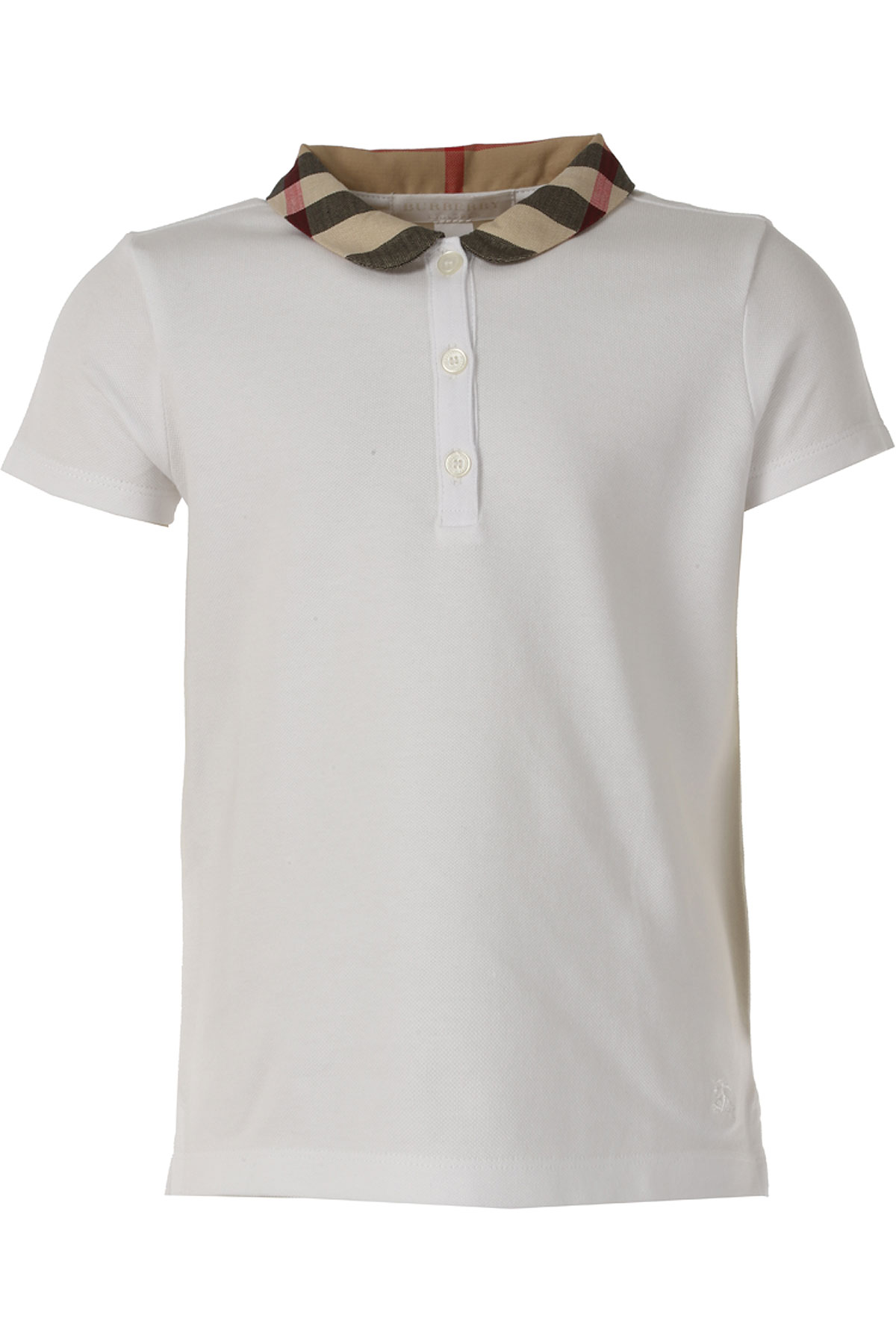 Image of Burberry Kids Polo Shirt for Girls On Sale in Outlet, White, Cotton, 2017, 10Y 4Y 8Y