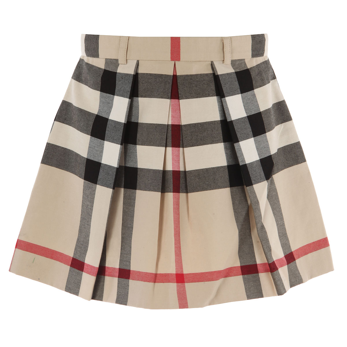 Image of Burberry Kids Skirts for Girls, Beige, Cotton, 2017, 4Y 6Y 8Y