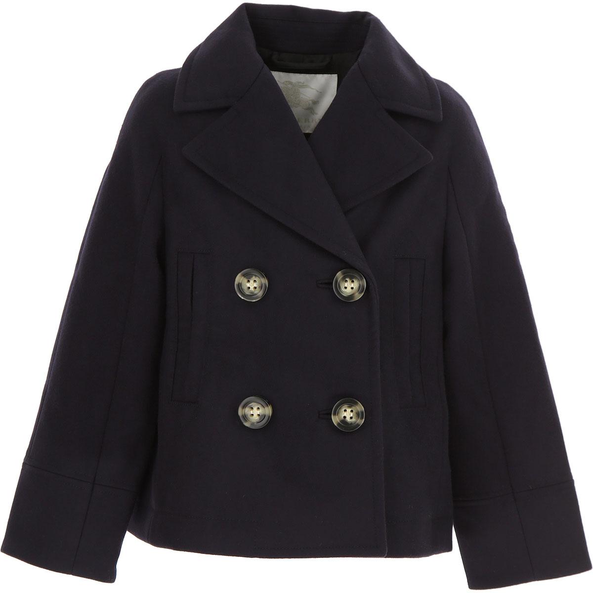 Image of Burberry {DESIGNER} Kids Coat for Girls, navy, Wool, 2017, 10Y 14Y 8Y