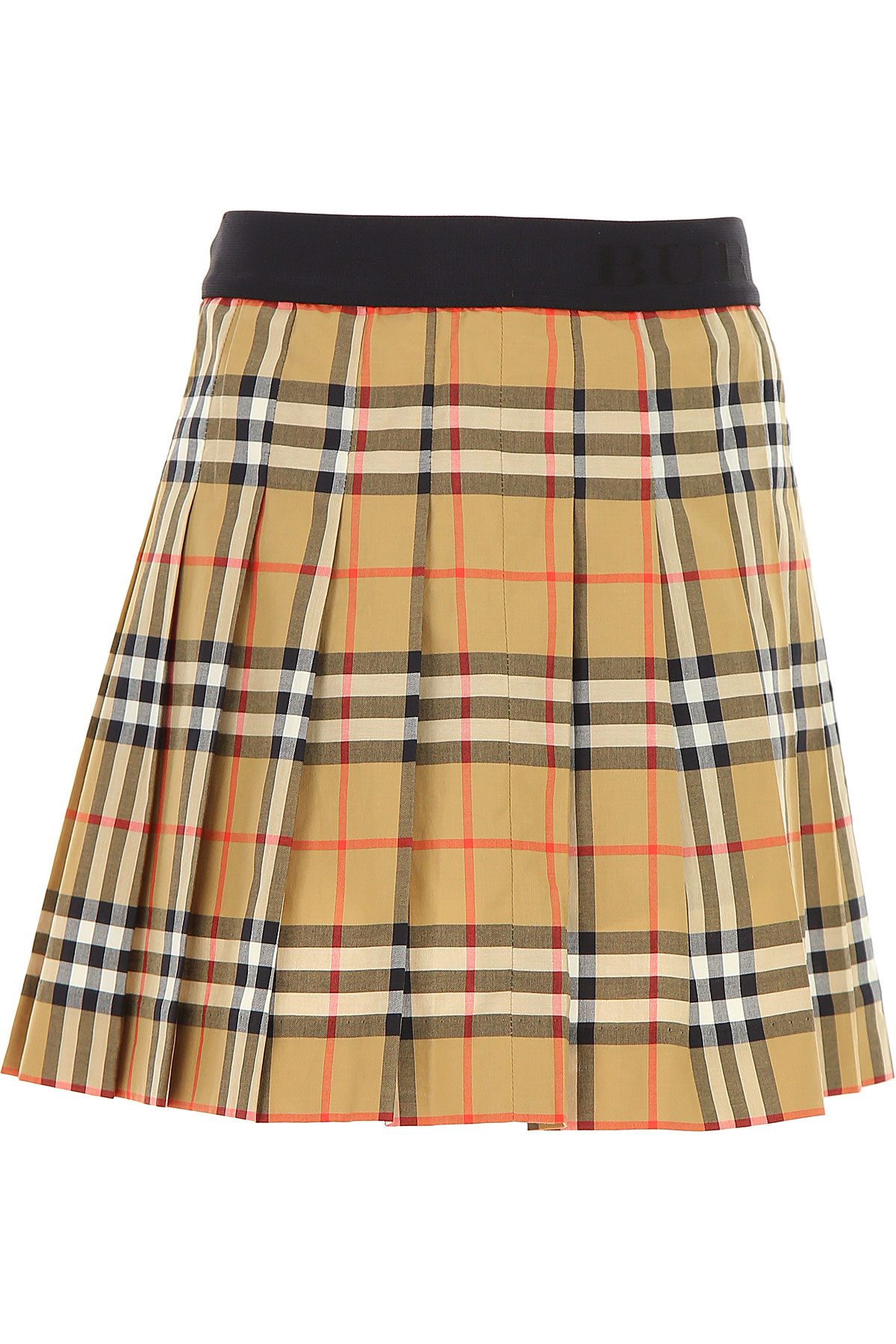 Image of Burberry Kids Skirts for Girls, Brown, Cotton, 2017, 10Y 4Y 6Y 8Y