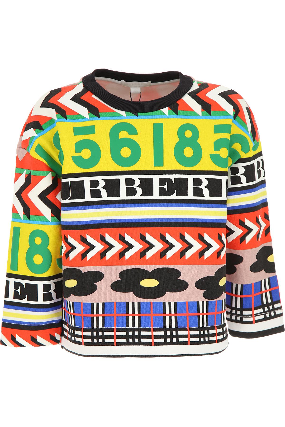 Image of Burberry Kids Sweatshirts & Hoodies for Girls, Multicolor, Cotton, 2017, 10Y 14Y 4Y 6Y 8Y