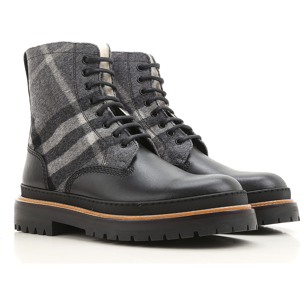 Image of Burberry Boots for Men, Booties On Sale, Black, Leather, 2017, 9