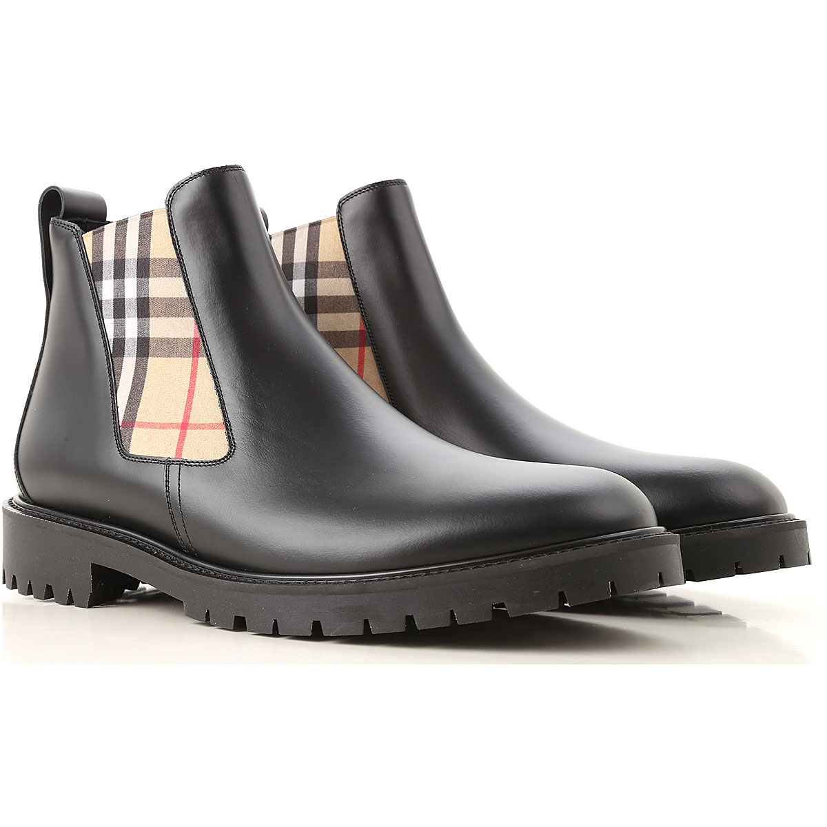 Image of Burberry Chelsea Boots for Men, Black, Leather, 2017, 12 8