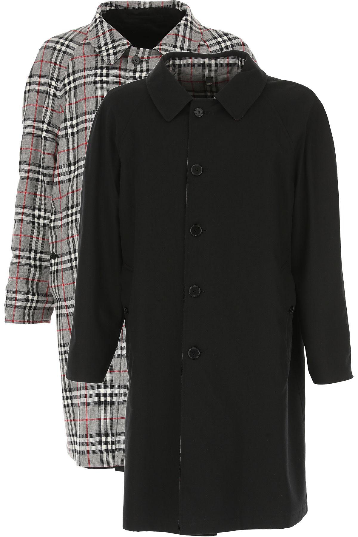 Image of Burberry Men\'s Coat, Black, Cotton, 2017, L M
