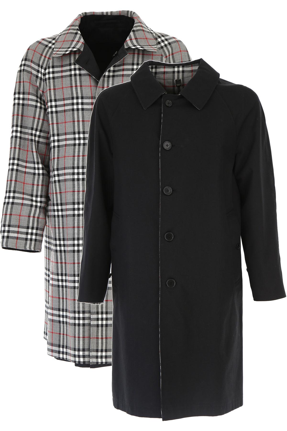 Image of Burberry Men\'s Coat, Black, Wool, 2017, S XS