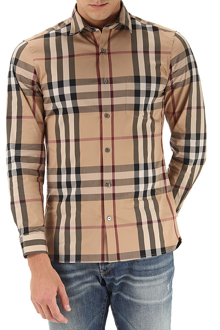 Mens clothing burberry style code 4557598 nelson 2310b for Where are burberry shirts made